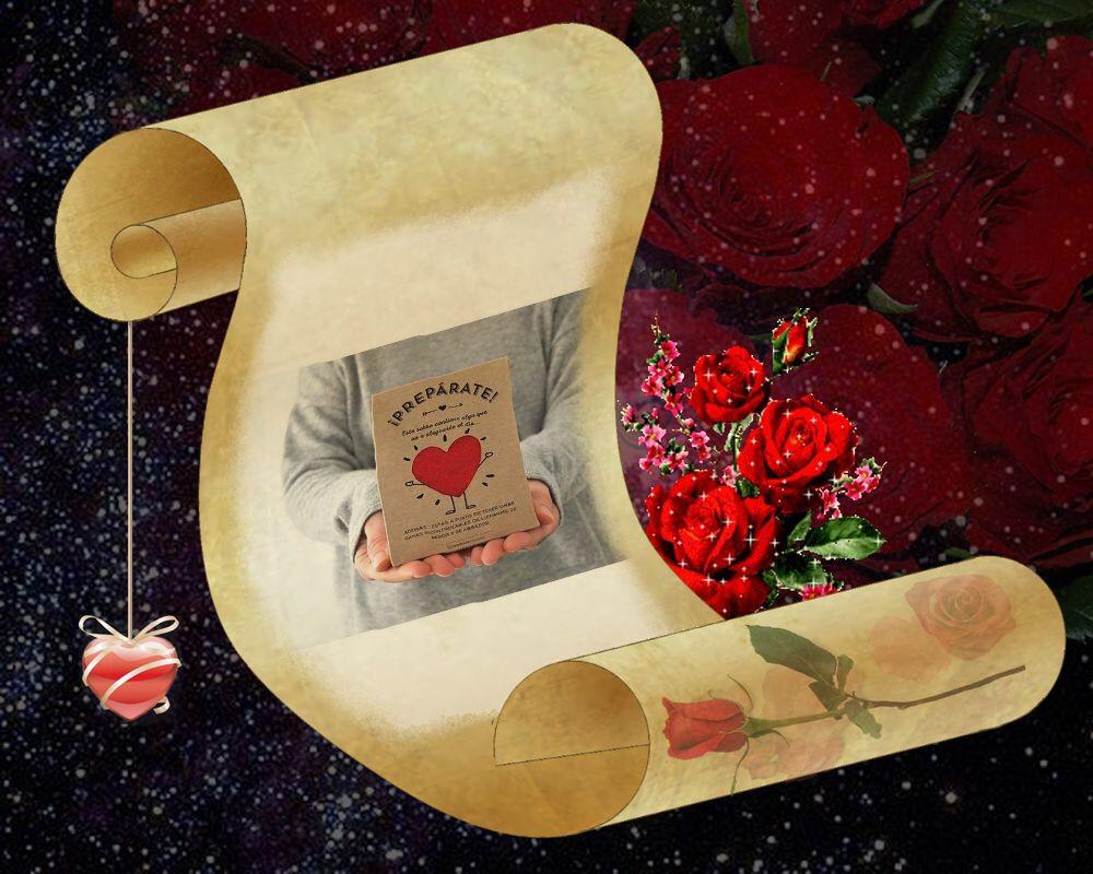???? enamorados San Valentín pergamino